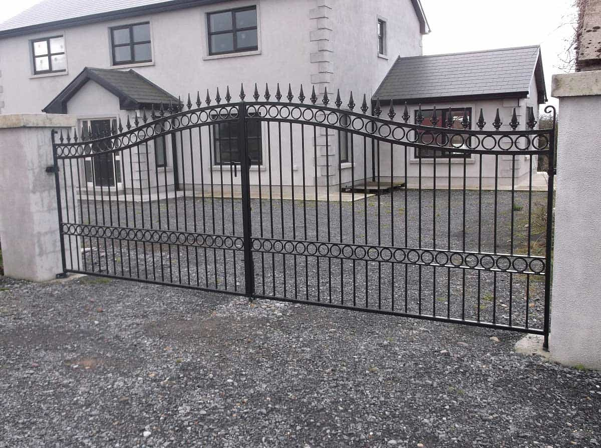 wrought iron entrance gates galway
