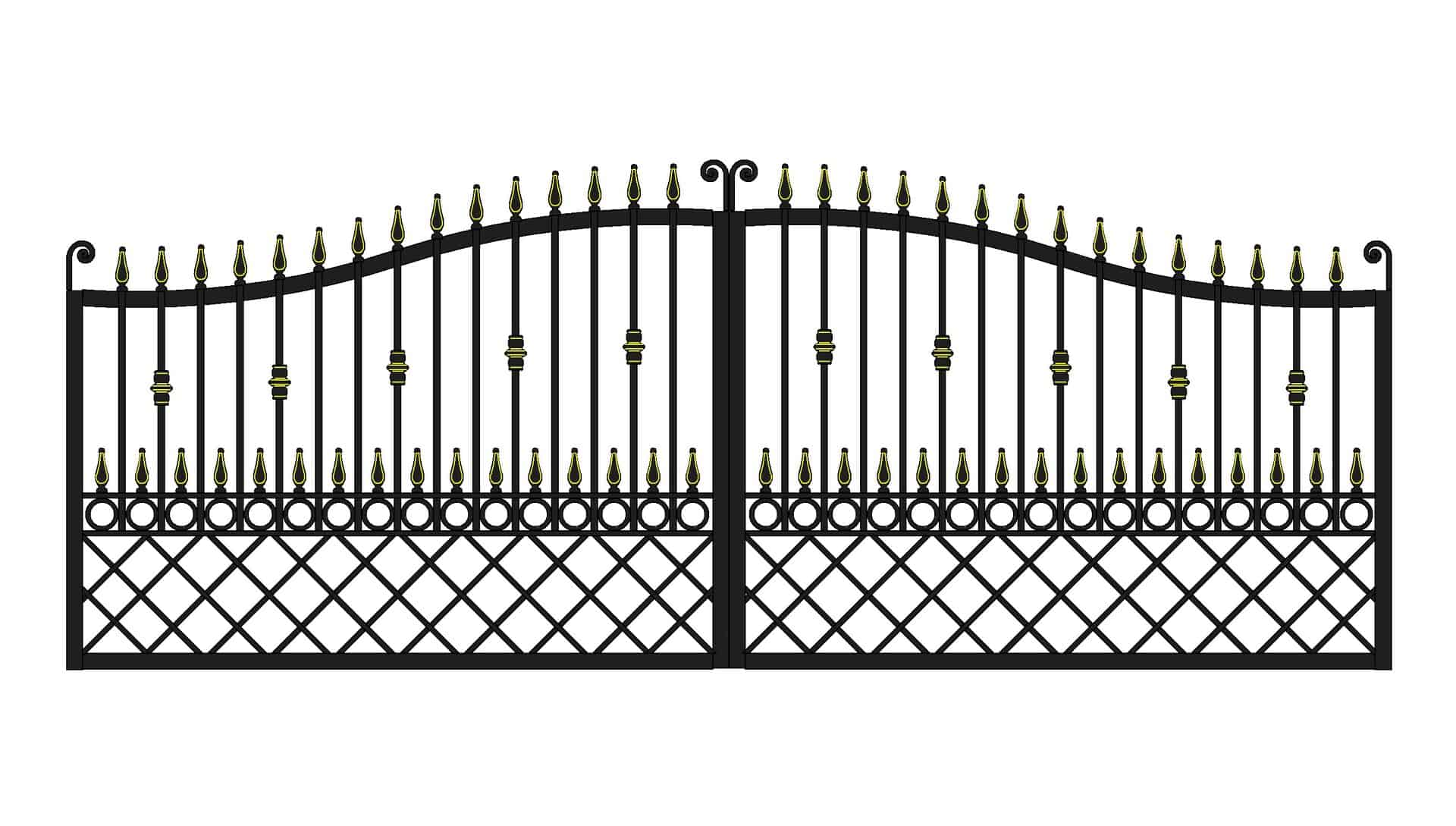 Wrought iron entrance gates Ireland